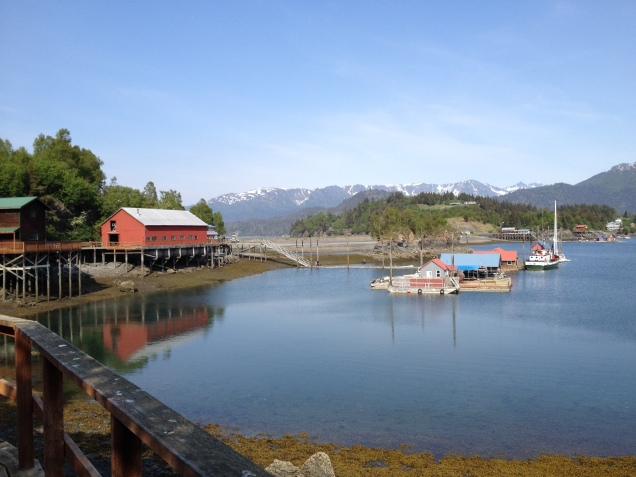 The little community of Halibut Cove.