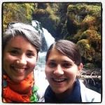The little waterfall we hiked to in Girdwood, Alaska.