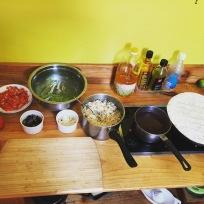 Burrito-making